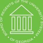 The logo for the University System of Georgia.